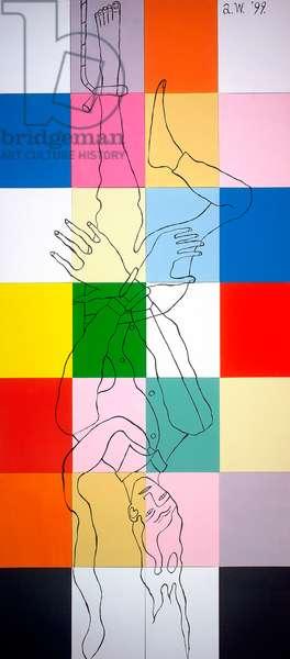 Well Hung, 1998 (acrylic on canvas)
