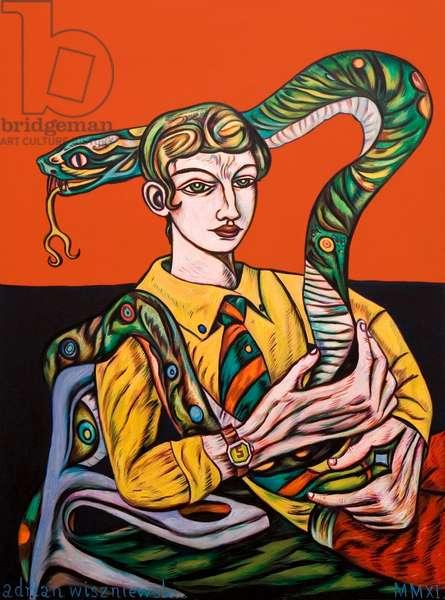 Omega Man, 2011 (oil on canvas)