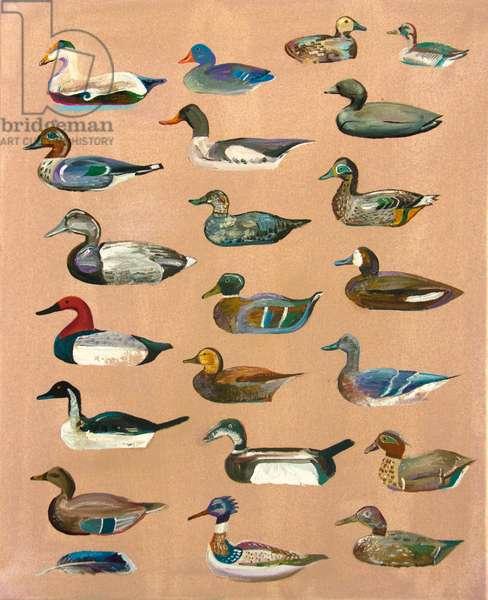 Decoy Ducks (oil on canvas)