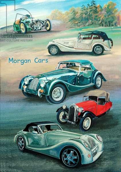 Morgan Cars, 2009 (oil on panel)
