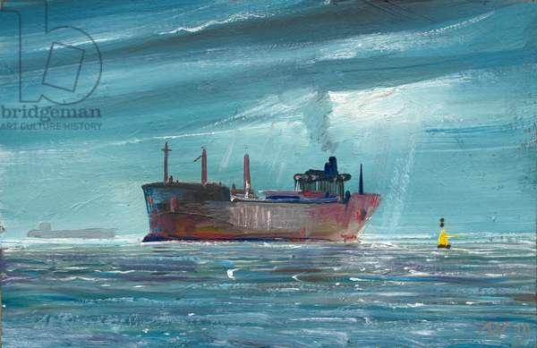 Unladen Tanker 2019 (oil on panel)
