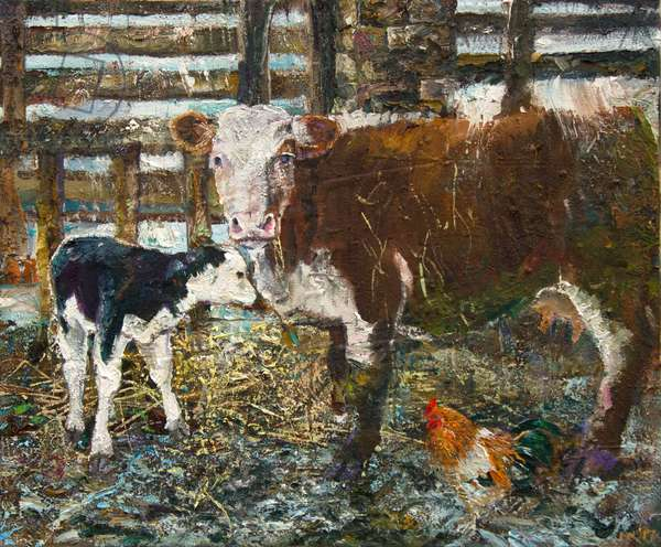 Black Hereford (oil on canvas)