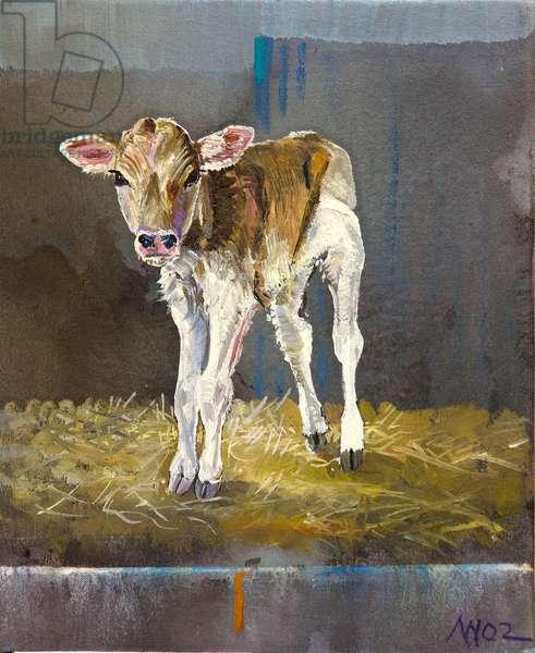 New Born Calf, 2020 (oil on canvas)