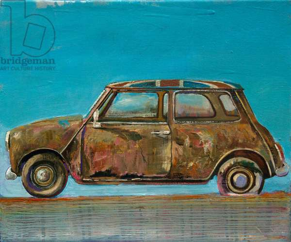 Car in English Colours (oil on canvas)