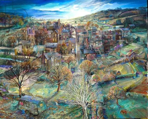 The Village in Moonlight