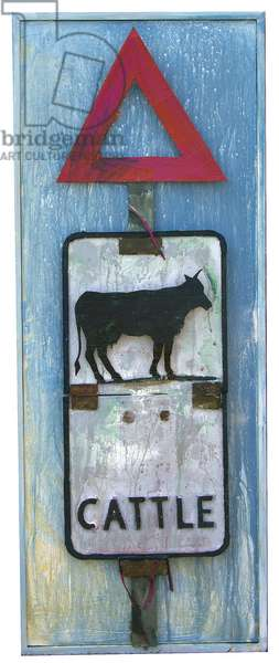 Cattle Sign, 2019 (Acrylic on board construction)