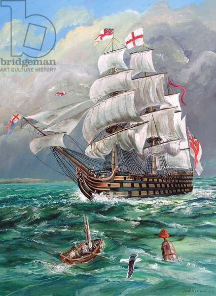 HMS Victory, 2011 (oil on canvas)
