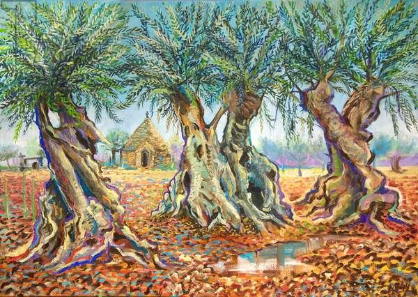 Ancient Puglia, 2019 (oil on canvas)