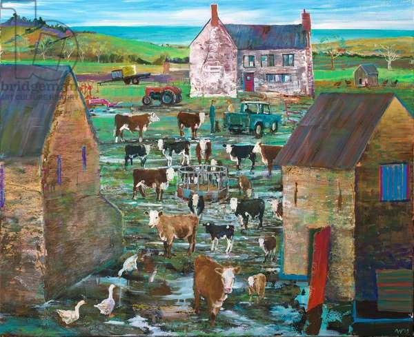 Coastal Farm, 2019 (acrylic on canvas)