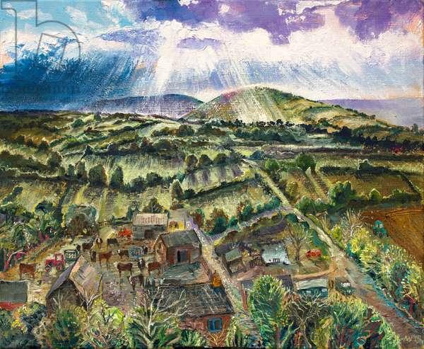 Towards the Black Mountains, 2019 (oil on canvas)