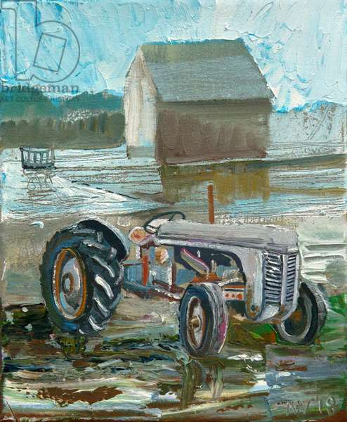 Old Grey Fergie (oil on canvas)