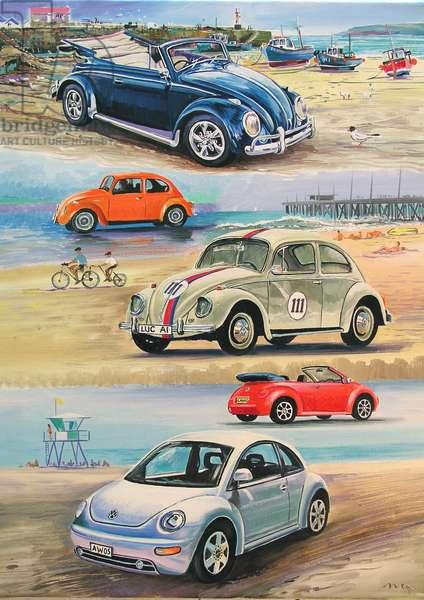 Beetles, 2008 (oil on panel)