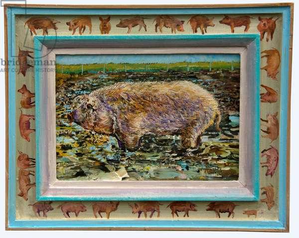 Royal Mangalitzer Pig (oil on canvas)