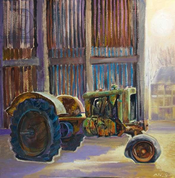 Gordon's Tractor, 2020 (oil on canvas)
