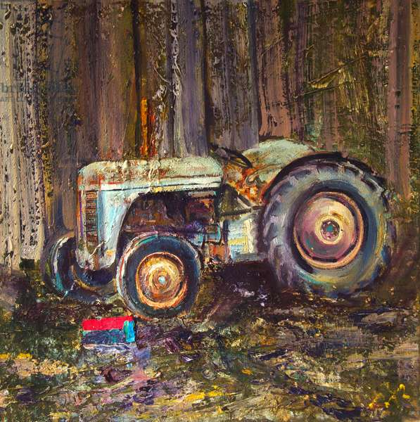 Tractor and Toolbox, 2020 (oil on canvas)