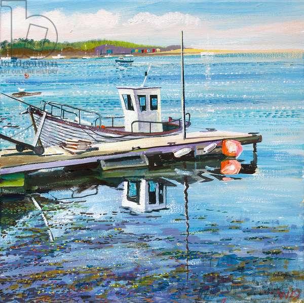 Bembridge Fishing Boat, 2019 (oil on canvas)