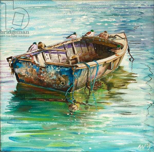 Duck Yacht, 2018 (oil on canvas)