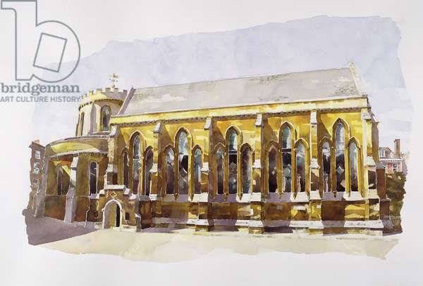 Temple Church, Temple (w/c on paper)