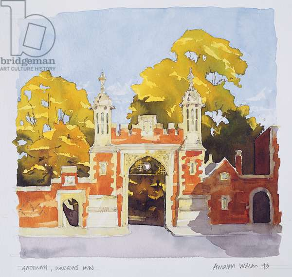 Gateway, Lincoln's Inn, 1993 (w/c on paper)