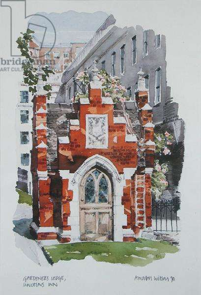 Gardener's Lodge, Lincoln's Inn, 1990 (w/c on paper)