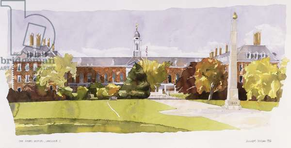 The Royal Hospital, Chelsea, 1992 (w/c on paper)