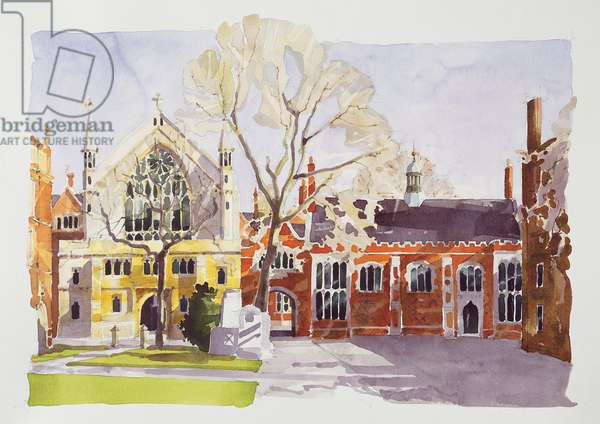 Chapel and Hall, Lincoln's Inn (w/c on paper)
