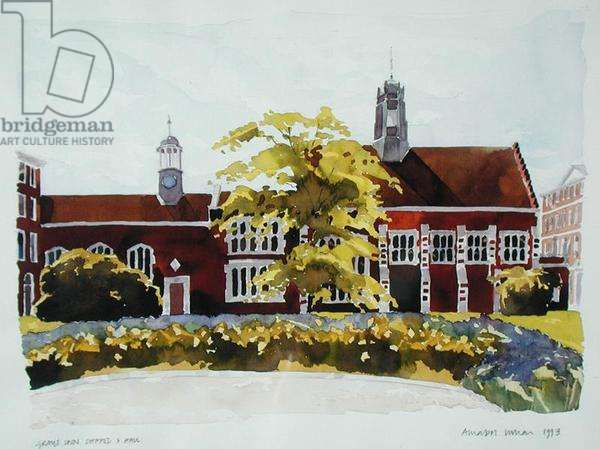 Gray's Inn Chapel and Hall, 1993 (w/c on paper)