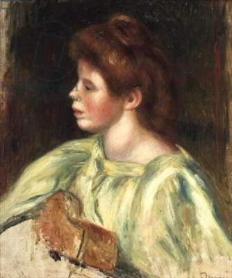 Portrait of a Woman Playing the Guitar