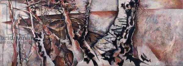 Winter Monks Horton, 1990-92 (acrylic on canvas)