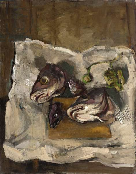 Fish Heads, 1953 (oil on canvas)