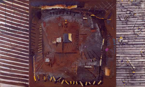 Interior Triptych I, 1983-89 (acrylic collage on canvas)