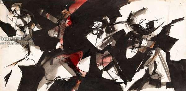 Sketch For Dancers, 1962-63 (work on paper framed)