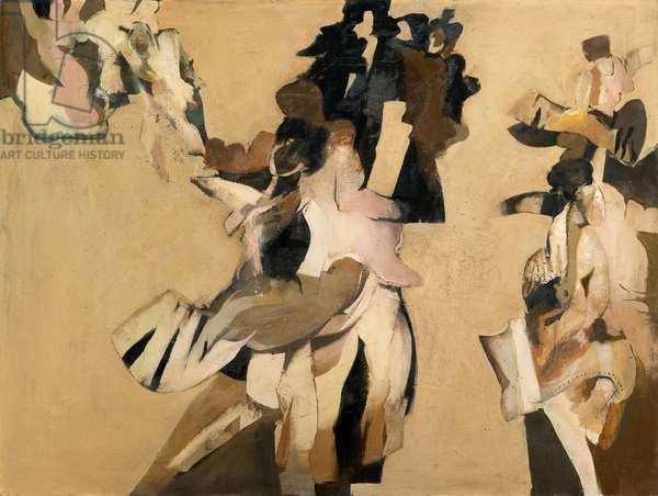 Dancers, 1963 (oil on board)