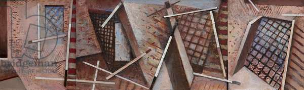 Interior Variations II, 1994-2014 (acrylic collage on canvas)