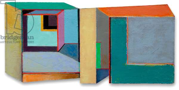 Ambiguous Interior, 1998-2015 (acrylic on board, shaped panel)