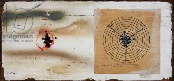 After Image, 1992-2002 (mixed media with shot pellets on wood)
