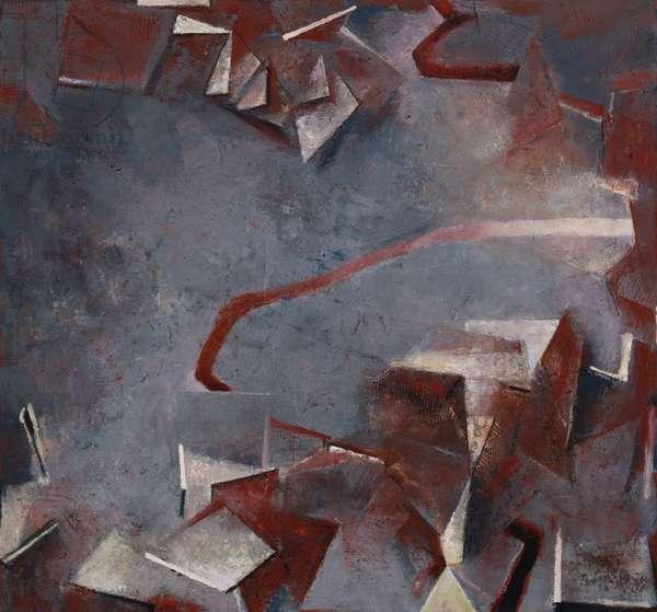 Pradella, 1991-92 (acrylic collage on canvas)