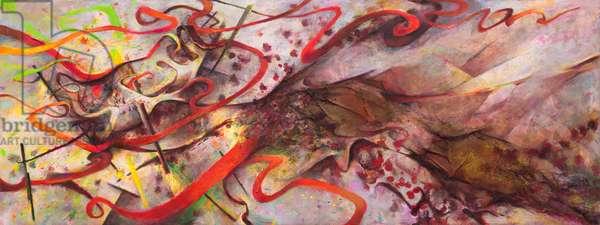 Tidal Surge III, 2010-15 (acrylic collage on canvas)