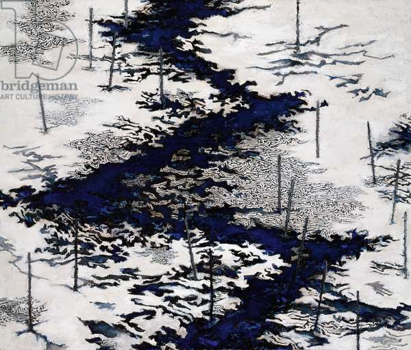 Downstream Thaw, 2007-09 (acrylic collage on canvas)