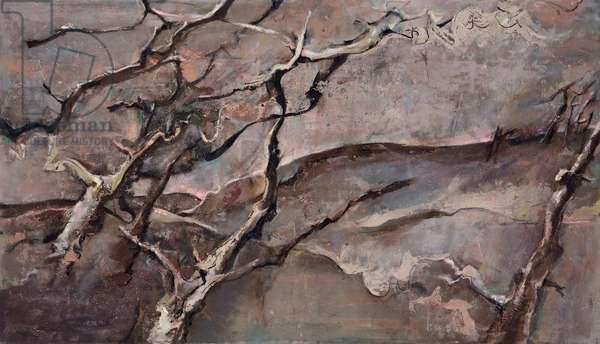 December's Wind, 1996-2011 (acrylic on canvas)