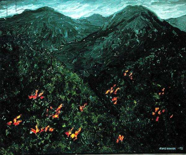 Landscapes of the Heart (Waitakeres), 1986 (oil on canvas)