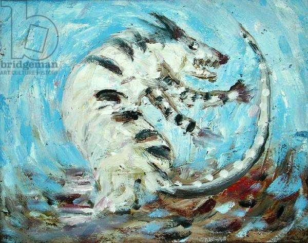 Passionate Instincts (Blue Rat), 1984 (oil on canvas)