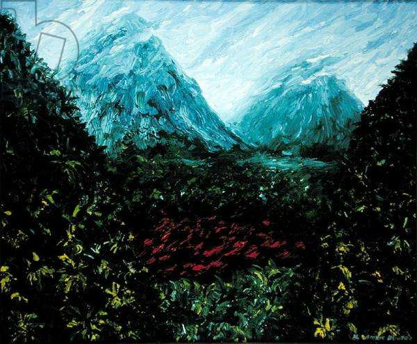 Landscapes of the Heart (for Aldous Huxley), 1986 (oil on canvas)