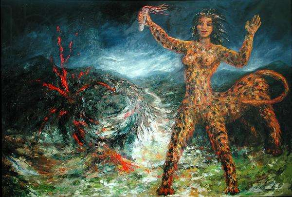 The Elimination of Justine, 1984 (oil on linen)
