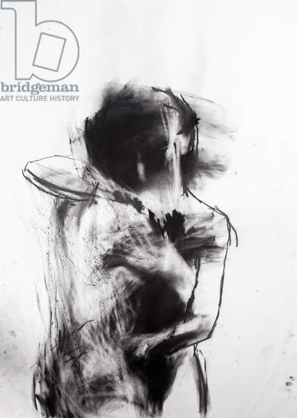 Study of an embrace no. 3 (charcoal on paper)