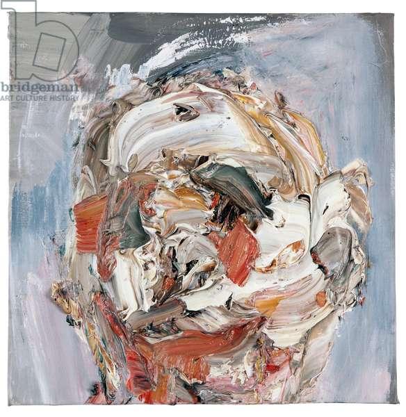 Self on Grey (oil on canvas)