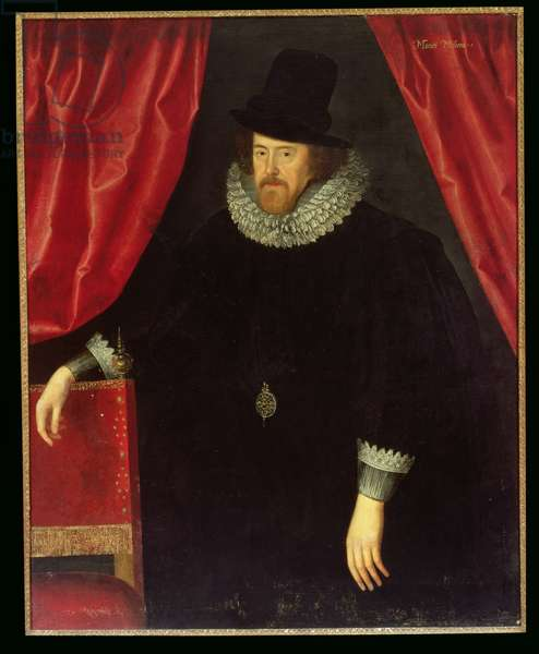 Portrait of Francis Bacon (1561-1626) 1st Baron of Verulam and Viscount of St. Albans (oil on canvas)