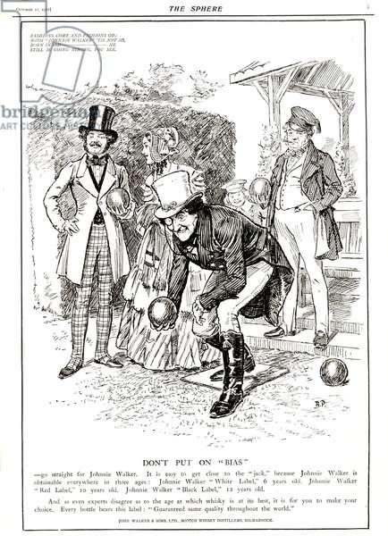 Johnnie Walker Magazine, advert, UK, 1910s