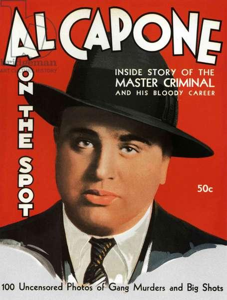Al Capone On The Spot Magazine Cover, USA, 1930s