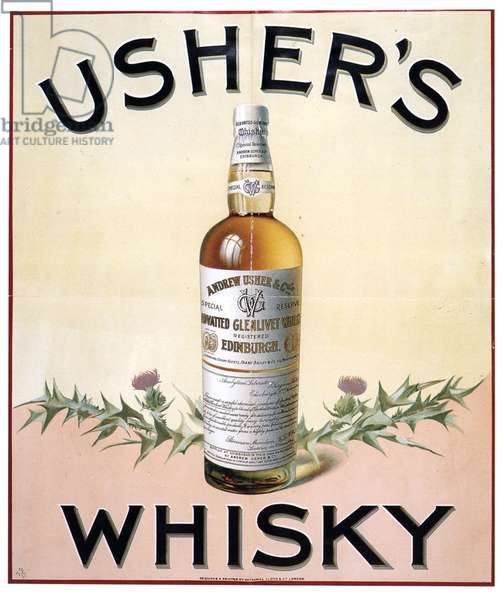 Usher's Magazine, advert, UK, 1900s
